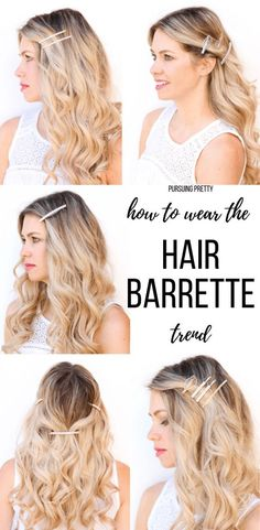 To Wear the Hair Barrette Trend How to Wear the HAIR BARRETTE Trend! 5 pretty hairstyles using hair clips and barrettes!How to Wear the HAIR BARRETTE Trend! 5 pretty hairstyles using hair clips and barrettes! Short Hair With Layers, Short Hair Cuts, Headband Hairstyles, Pretty Hairstyles, Clip Hairstyles, Travel Hairstyles, Head Scarf Styles, Hair Accessories For Women, Hair Barrettes