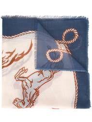 Shop Stella McCartney Western horse print scarf.