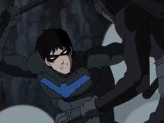 he has airpods i just know it! Nightwing Cosplay, Nightwing Costumes, Nightwing And Starfire, Nightwing Young Justice, Young Justice League, Young Justice Comic, Batman Art, Batman Robin, Gotham Batman