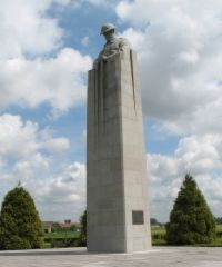 The Brooding Soldier - Canadian memorial near Ypres - photo copyright by Gabriele Wills