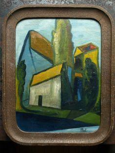 Cubist French Oil Painting Landscape Abstract Modernist 1920s 1930s Russian   eBay