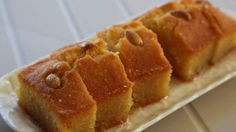 """Semolina cake with lemon syrup (kalo prama) 