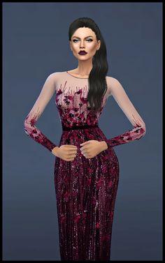 Luthien Dress at Kenzar Sims via Sims 4 Updates