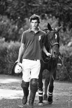 He plays polo....