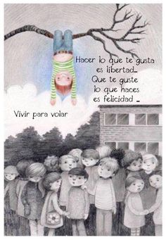 〽️ Hacer lo,que te gusta es libertad... Pretty Quotes, Cute Quotes, Funny Quotes, Strong Quotes, Mom Quotes, Bob Marley, Motivational Phrases, Inspirational Quotes, Spanish Quotes