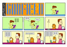 Garfield & Friends   The Garfield Daily Comic Strip for June 28th, 2015 <- this is cute. #Garfield #Odie #comic