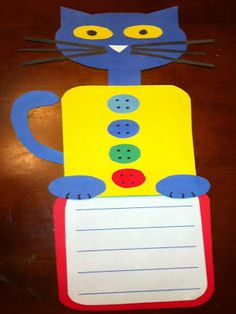 Pete the Cat craftivity to go with new book