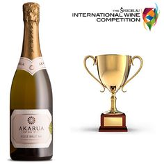Trophy Alert! Celebrations are underway here at Akarua as our Akarua Rosé Brut NV has been awarded The Gow Langsford Gallery Trophy for Champion Sparkling Wine at the Spiegelau International Wine Competition 2014!  It has been just two and a half years since we launched our methode traditionelle range of sparkling wines. The Trophy and Gold Medals awarded to us in this short space of time is a major milestone for Akarua as it demonstrates our consistent quality of wines!