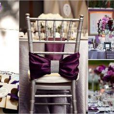Purple white and silver wedding decor Wedding Events, Our Wedding, Dream Wedding, Wedding Receptions, Bling Wedding, Rhinestone Wedding, Crystal Wedding, Decor Wedding, Wedding Stuff
