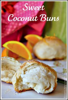 Sweet Coconut Buns @SECooking | Sandra