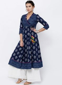 34 Types of Kurti Designs Every Woman Should Know Salwar Designs, Printed Kurti Designs, Simple Kurti Designs, Stylish Dress Designs, Kurta Designs Women, Kurti Designs Party Wear, Dress Neck Designs, Stylish Dresses, Blouse Designs