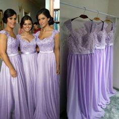 long bridesmaid dress, lila..