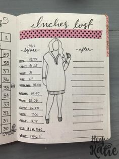 Bullet Journal For Weight Loss