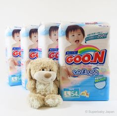 Superbaby Japan - GOO.N nappies - Large - 216 pieces (4 pack carton)