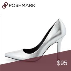 """Use code BOUIR when you sign up! Sway II Metallic Pumps Charles David metallic leather pump. 4"""" covered heel. Pointed toe. Slip-on style. Padded footbed. Leather sole. Imported. Lightly used ❌no trades❌ Shoes Heels"""