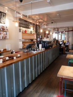 Notes Coffee, Food & Wine or Music & Coffee? Cafe Bistro, Cafe Bar, Rustic Restaurant, Restaurant Design, Cafeteria Industrial, Drive Thru Coffee, Opening A Coffee Shop, Coffee Music, Industrial Kitchen Design