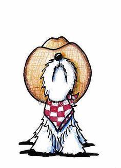 Forgot Something – by Emily J White from Cartoon Illustrative Work Art Gallery – Hunde Mix Applikationen - Cartoon Scottish Terrier, Cute Drawings, Animal Drawings, West Highland White Terrier, Schnauzer Art, Scottie Dog, Westies, Animal Paintings, Dog Art