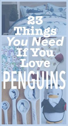 23 Adorable Penguin Products You Need In Your Life..definitely wish I saw this during my Noises Off! days! I miss my penguins!