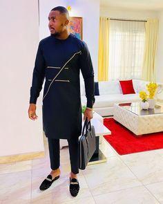 rocking our black velvet mules 🔥👌🚀. rocking our black velvet mules 🔥👌🚀 African Wear Styles For Men, African Shirts For Men, African Dresses Men, African Attire For Men, African Clothing For Men, Mens Clothing Styles, Dashiki For Men, African Dashiki, Nigerian Men Fashion