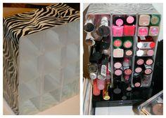 Shabby Kitteh: Lip Stick Caddy DIY...Dollar Store Craft