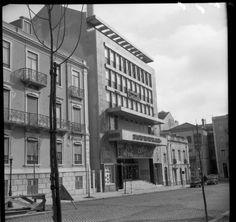 O Cinema Mundial, na Rua Martens Ferrão, em 1967 (Foto: Augusto de Jesus Fernandes, Arquivo Municipal de Lisboa)