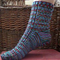 Ravelry: Watching Hawks Socks pattern by Beverly S.