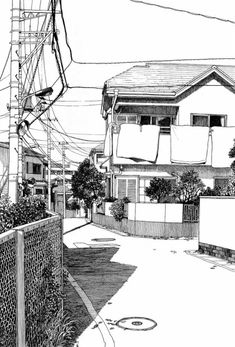 Architectural - Urban Sketches and Cityscape Drawings Japon Illustration, Illustration Sketches, Drawing Sketches, Art Drawings, Drawing Ideas, Cityscape Drawing, Perspective Drawing, Urban Architecture, Drawing Architecture