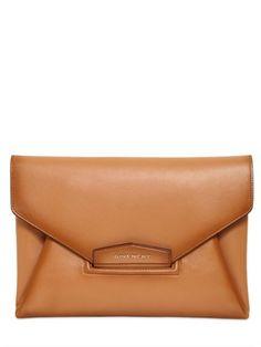 Givenchy Brown Antigona Vintage Leather Clutch