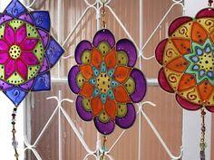 Vivenciando e Trocando Boas Idéias: Pintura em vidro