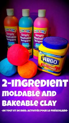 2 ingredient moldable & bakeable clay