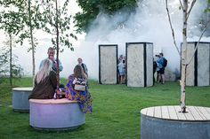 SLA creates The Oasis for Roskilde Festival`s Artzone #popup #temporary #installation #intervention #art #festival #roskilde #denmark #SLA #architects