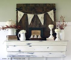 Mantel  Decorations : IDEAS  INSPIRATIONS : Fall Mantel  Living Room