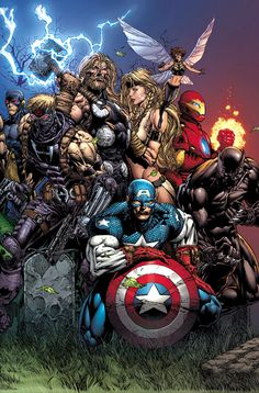 Ultimate Avengers by David Finch - Comic Art Work By David Finch - Comic Movies, Comic Book Characters, Comic Book Heroes, Marvel Characters, Comic Books Art, Comic Art, Arte Dc Comics, Marvel Comics Art, Marvel Heroes