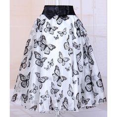 Fashionable Butterfly Organza Skirt For Women #jewelry, #women, #men, #hats, #watches, #belts, #fashion