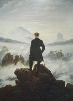 """Viajero frente a un mar de nubes"", 1818. Friedrich."