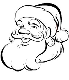 XMAS COLORING PAGES: XMAS COLORING PAGES - SANTA COLORING PAGES