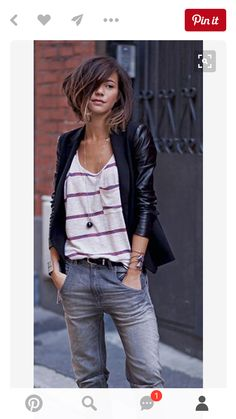 Les Babioles De Zoe Washed Diesel Jeans Fall Inspo (Fall Top With Jeans) Tomboy Fashion, Look Fashion, Womens Fashion, Mode Style, Style Me, Look Jean, Moda Outfits, Mode Shoes, Corte Y Color