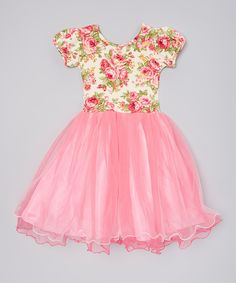 Look at this Wenchoice Hot Pink Floral Dress - Infant, Toddler & Girls on #zulily today!