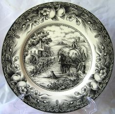 Black Toile Transferware (I actually have a few bowls in this pattern)