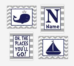 Personalized Baby Nursery Decor & Gifts – Canvas & Wall Art Prints – Baby Blankets – Kids Bed and Bath Wall Art Baby Nursery Decor, Nursery Wall Art, Canvas Wall Art, Wall Art Prints, Gray Whale, Personalized Wall Art, Nautical Baby, Bathroom Art, Baby Boy Nurseries