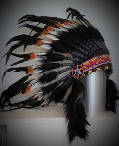 Check out For Kid / Children: three colors  Brown  double feather Chief indian Feather Headdress on theworldoffeathers