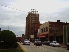 "Sign of ""home""......    Hotel Aldridge  McAlester, OK."
