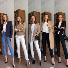 Business Outfit Frau, Business Casual Outfits For Women, Smart Casual Outfit, Casual Work Outfits, Professional Outfits, Mode Outfits, Work Casual, Casual Clothes, Smart Casual Women Winter