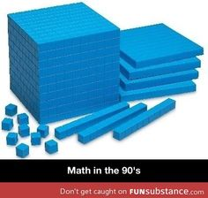 Math in the 90's...yessssss. My favorite math lessons involved these