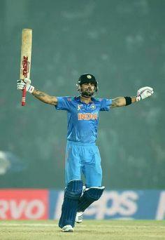 Veerat Kohli.133runs today.captain.Indian cricket team
