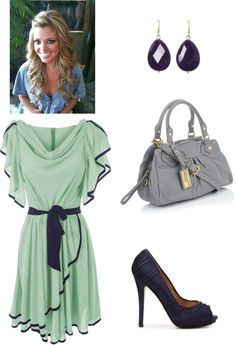 """navy and mint"" by kellyebeth on Polyvore"