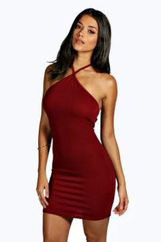 Daniella Crepe Strappy Bodycon Dress