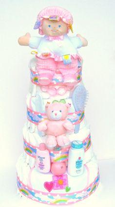 Diaper cake accessories (bear, powder, brush)