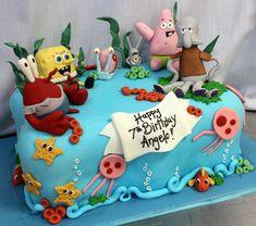 Spongebob underwater cake med