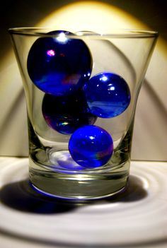 in a shot glass Love Blue, Blue And White, Bleu Indigo, Blue Bayou, Cobalt Glass, Glass Marbles, Blue Marbles, Calming Colors, Himmelblau